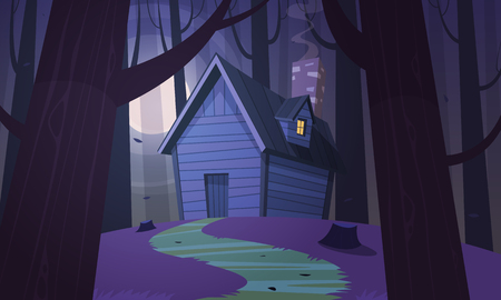 Cabin in Woods - Night