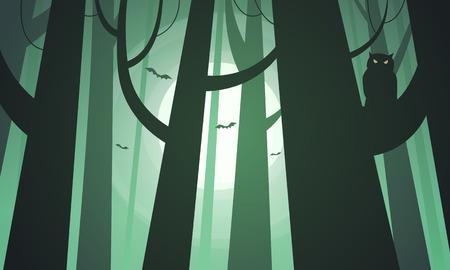 Griezelige bos Stock Illustratie