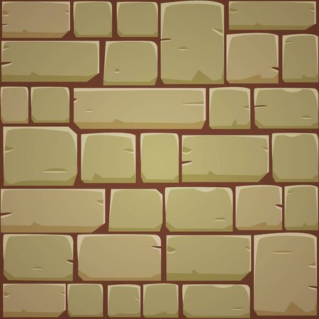 stone wall: Stone Block Wall - Yellow