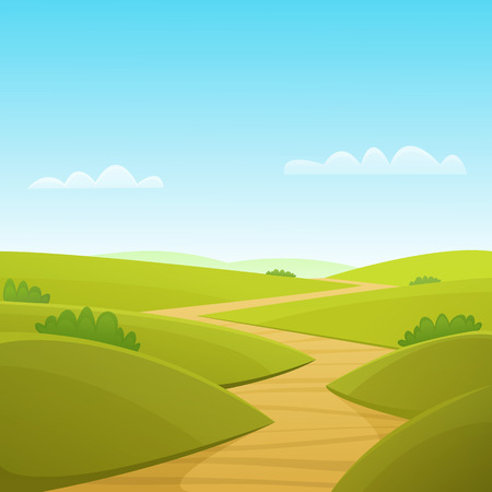 backgrounds trees: Country Road Illustration