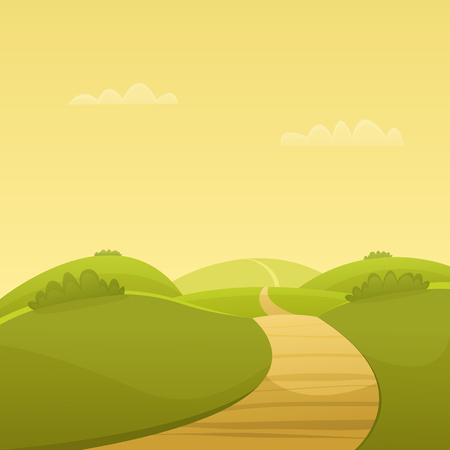 country road: Country Road Illustration