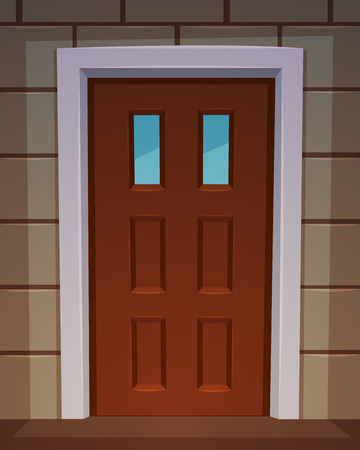 cerrar la puerta: La puerta frontal
