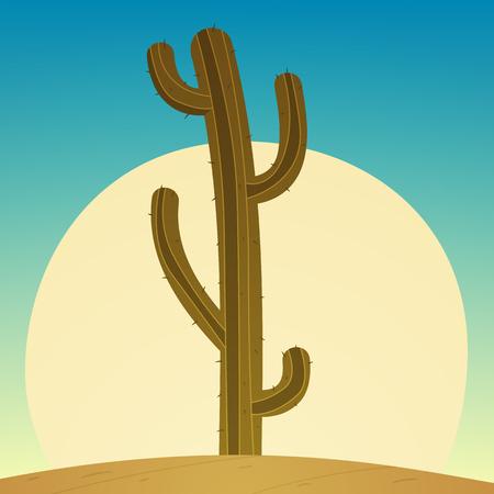 sun flowers: Cartoon Cactus Illustration