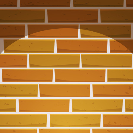 building bricks: Cartoon Brick Wall