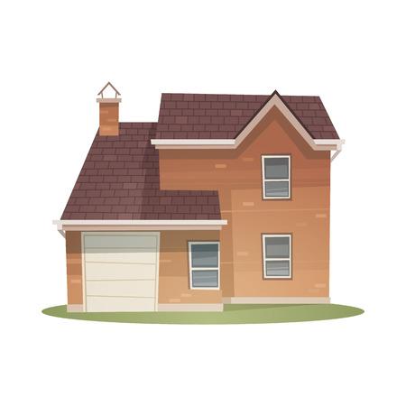 brick house: Cartoon House
