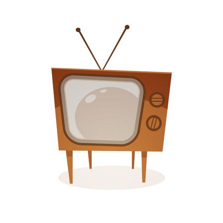 retro tv: Cartoon Retro Tv