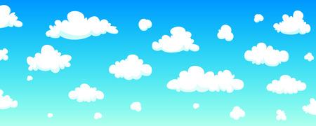 cloudy weather: Cartoon Sky Background
