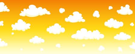 nubes caricatura: Cielo de fondo de dibujos animados Vectores
