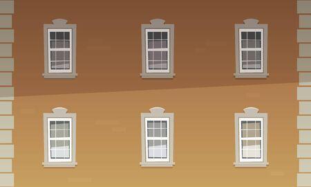 facade building: Retro Building Facade