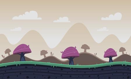 fantasia: Jogo fundo dos desenhos animados Ilustração