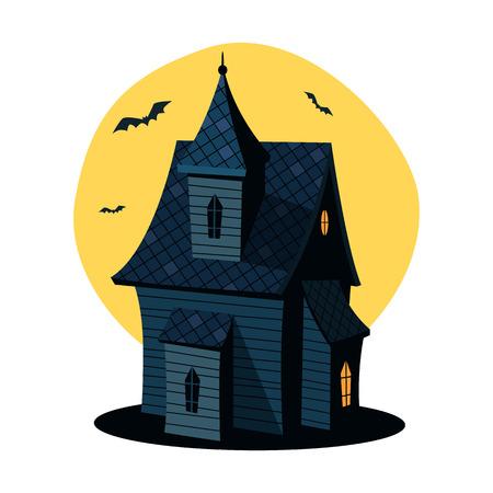 luna caricatura: De dibujos animados de la casa encantada