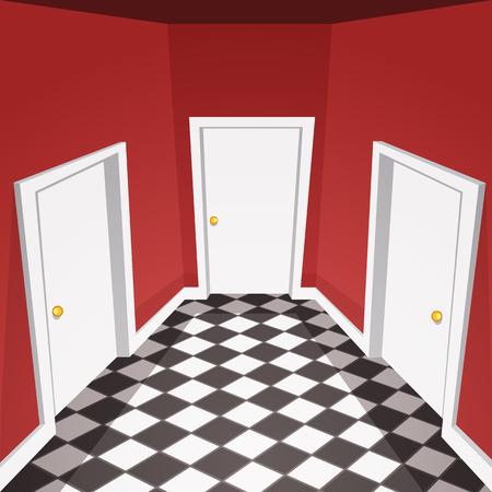 hallway: House Hallway Illustration