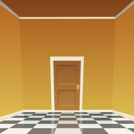 room door: Room Door - Yellow