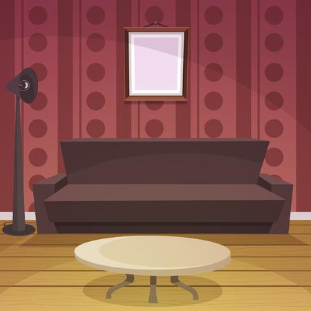 floor coverings: Retro Room - Red Illustration
