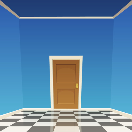 room door: Room Door - Blue Illustration