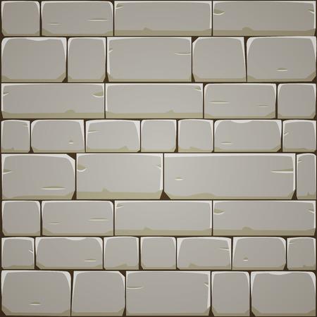 石造りのブロック壁  イラスト・ベクター素材