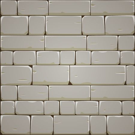 stone texture: Stone Block Wall Illustration
