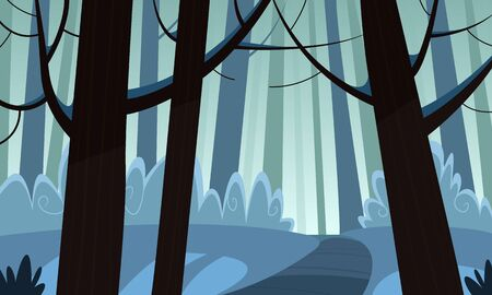 trail: Winter Forest Trail Illustration