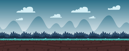 tile able: Cartoon Game Background