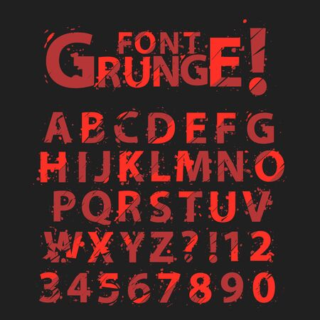 grunge: Grunge Alphabet Illustration
