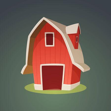 red barn: Red Farm Barn Icon