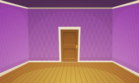 wooden doors: Empty Room  Purple