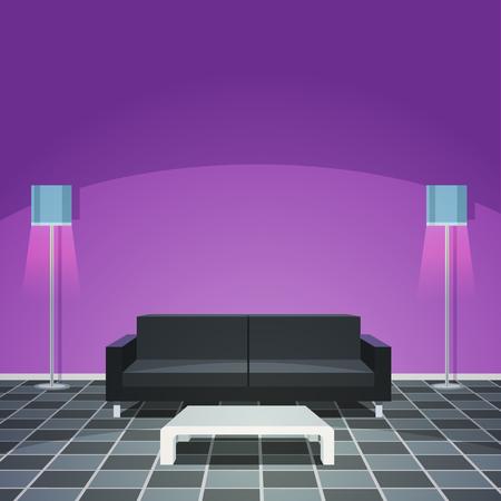 modern living room: Modern Living Room - Purple