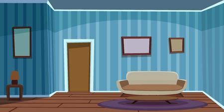 wooden doors: Retro Living Room  Blue