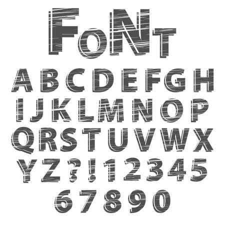scratched: Scratched font
