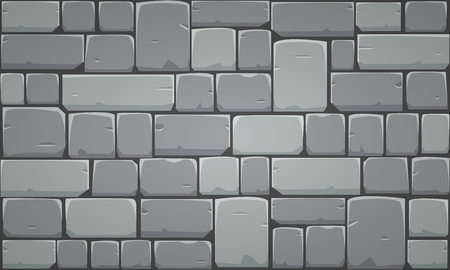 square detail: Stone Block Wall Illustration