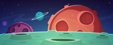 space cartoon: Cartoon Game Space Background