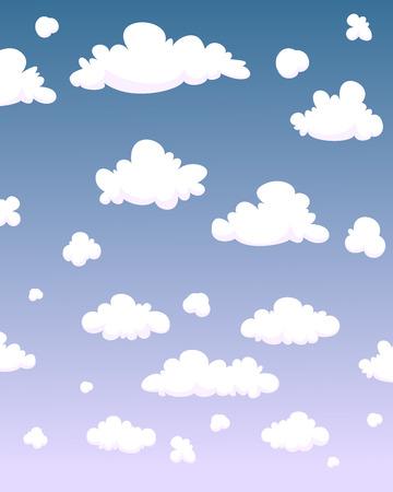 nubes caricatura: Nubes de dibujos animados