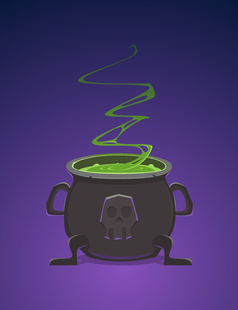 cauldron: Witch Cauldron Illustration
