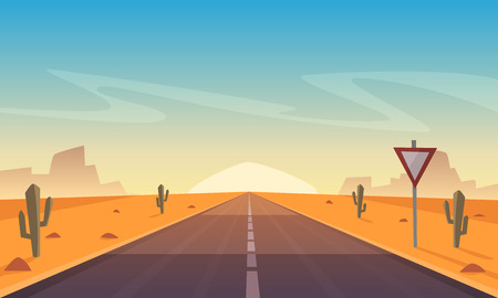 Desert Road Stockfoto - 70816426