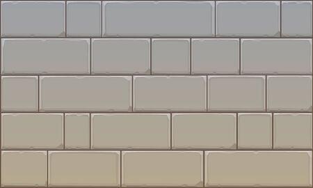 old square: Stone Block Wall Illustration