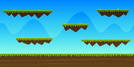 Cartoon spel achtergrond
