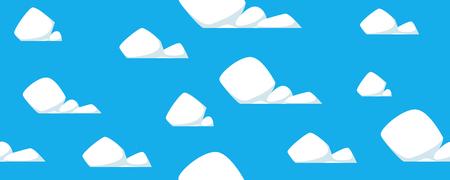 Naadloos patroon van wolken in cartoonillustratie