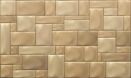 Stone Block Wall Illusztráció