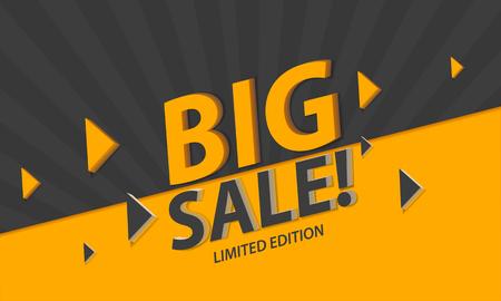 Modern verkoop sjabloonontwerp spandoek. Grote verkoop beperkte editie. Vector illustratie.
