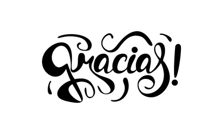 Gracias ! Hand lettering thanks in spanish.