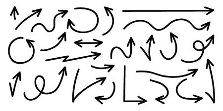 Set of arrows. Vector illustration. Stock Illustratie