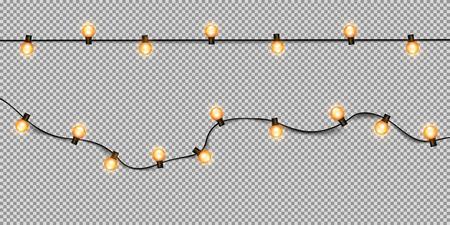 Christmas light isolated on transparent background. Stock Illustratie