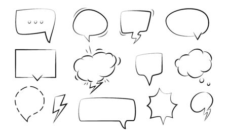 Set of speech bubbles icons. Vector illustration.