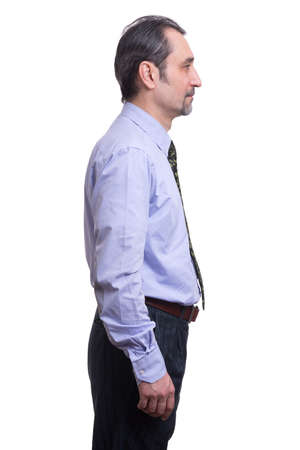 man profile: profile of a middle aged business man Stock Photo