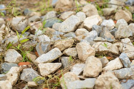 bunch of rocks and granite on the ground