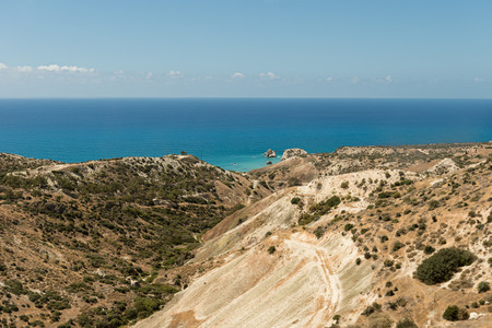 aphrodite: birthplace of Aphrodite in Cyprus Stock Photo