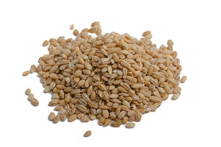 spot: grains of barley on a white background