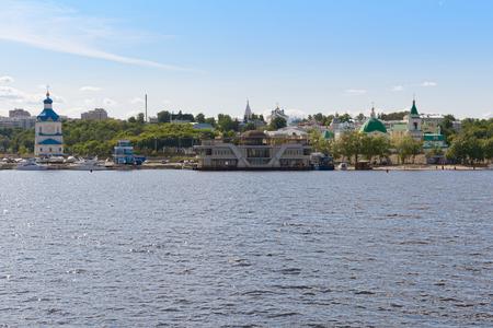 June 2, 2016: Embankment of the Volga River in the city of Cheboksary. Cheboksary. Russia. Publikacyjne
