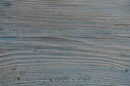 old wooden painted blue board with cracks Zdjęcie Seryjne