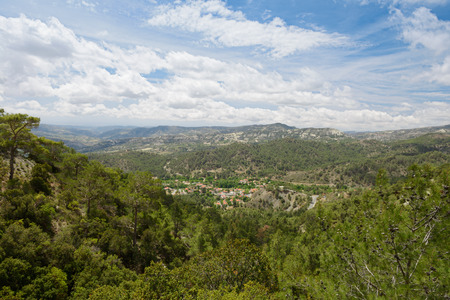The view from the heights of the hills and mountains of the island of Cyprus Zdjęcie Seryjne